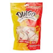 Dingo Small Bones 6 Count, Rawhide For Dogs, Made With Real Chicken