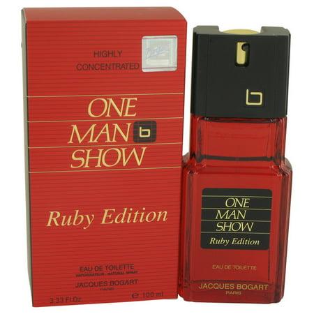 Jacques Bogart One Man Show Ruby Eau De Toilette Spray for Men 3.3