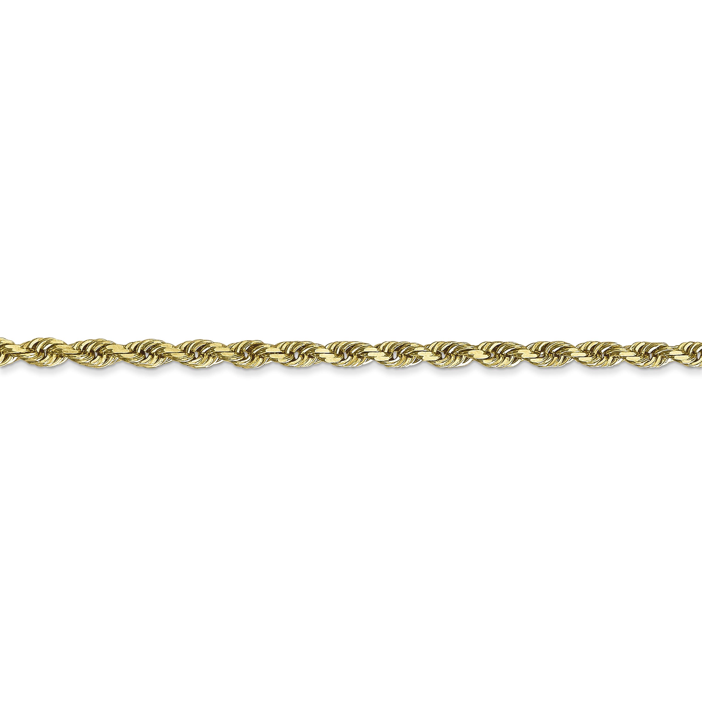 10K Yellow Gold 3.0mm Diamond Cut Quadruple Rope Chain 18 Inch - image 2 of 5