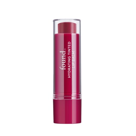 FOUND Lip Hydrating Tinted Lip Balm, 40, Poppy Kiss, 0.125 Fl