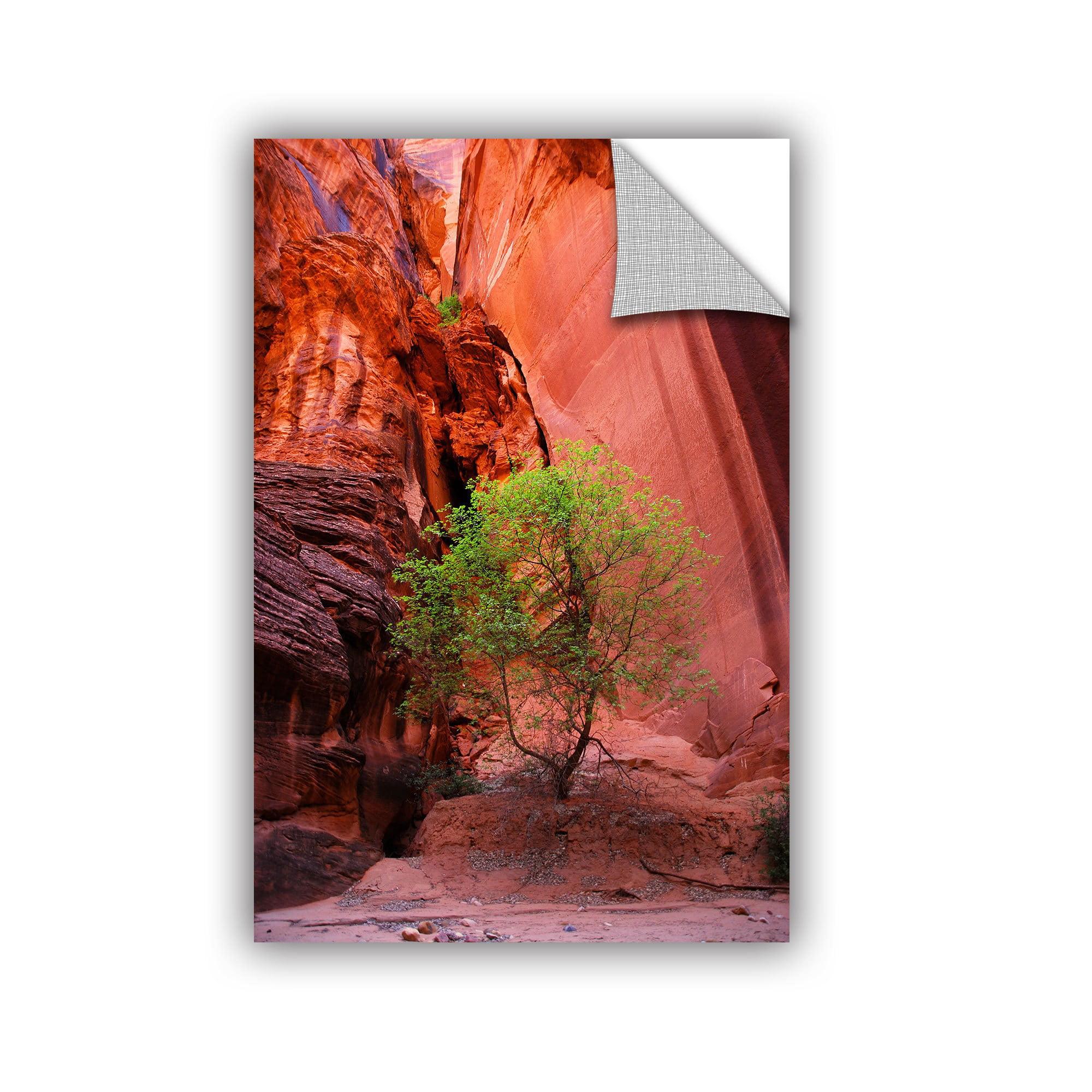 Artwall Dan Wilson Utah Green Tree Red Canyon Artappealz Removable Wall Art Walmart Com Walmart Com