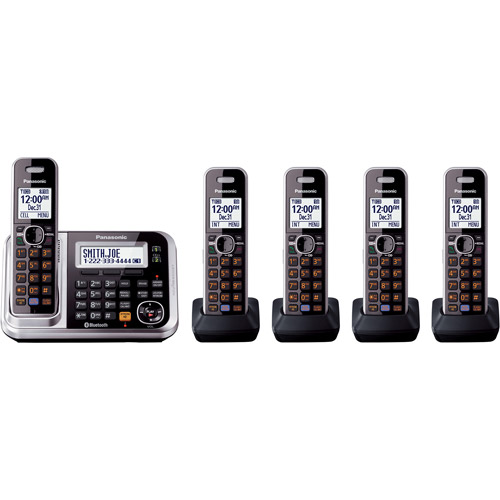 Panasonic KXTG7875S DECT 6.0 5-Handset High Quality Phone System with Answering Capability by Panasonic