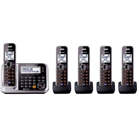 Panasonic KXTG7875S DECT 6.0 5-Handset High Quality Phone System with Answering Capability by