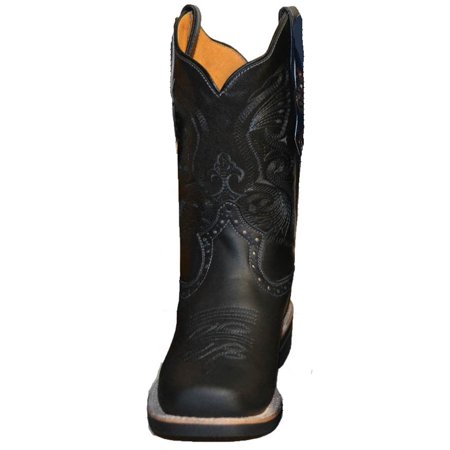 MEN'S RODEO COWBOY BOOTS GENUINE LEATHER WESTERN Size 9