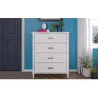 Novogratz Hazelridge 4 Drawer Dresser, White