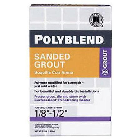 7 LB Delorian Gray Sanded Polyblend Grout For Use On Floors Only Only (Gray Sanded Grout)