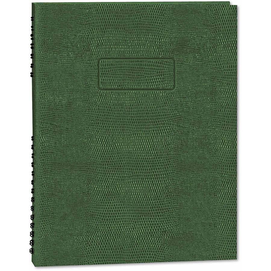 "Blueline Exec Wirebound Notebook, College/Margin Rule, 9-1/4"" x 7-1/4"", Green, 75 Sheets"