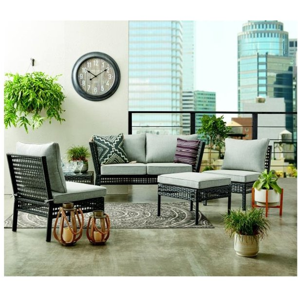 Mainstays Ayden Park 4-Piece Patio Furniture Conversation ...