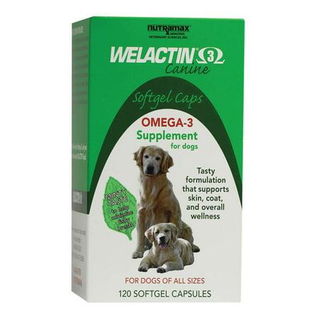 Nutramax Welactin Canine Omega-3 Softgel Dog , 120