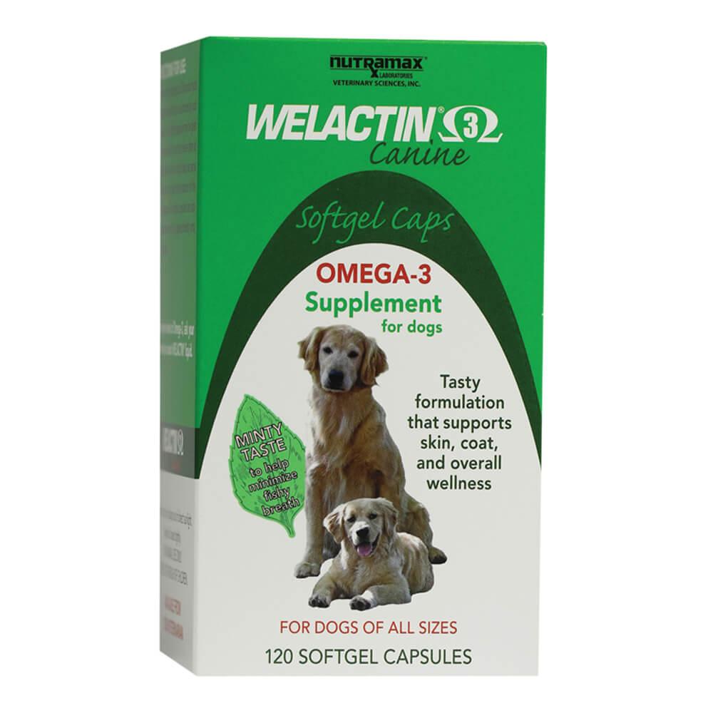 Nutramax Welactin Canine Omega-3 Softgel Dog , 120 Softgels