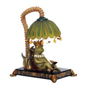 Sleeping King Frog Accent Lamp