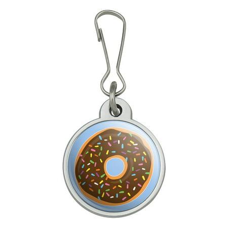Chocolate Sprinkle Donut (Cute Donut with Sprinkles Chocolate Icing Jacket Handbag Purse Luggage Backpack Zipper Pull)