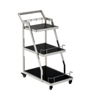 Jofran Tuxedo 3 Level Bar Cart in Black