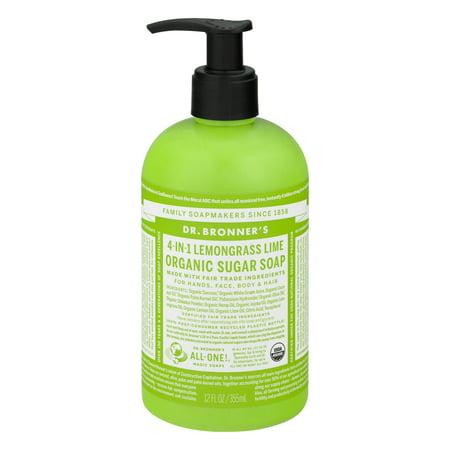 Dr. Bronner's Lemongrass Lime Sugar Pump Body Wash - 12