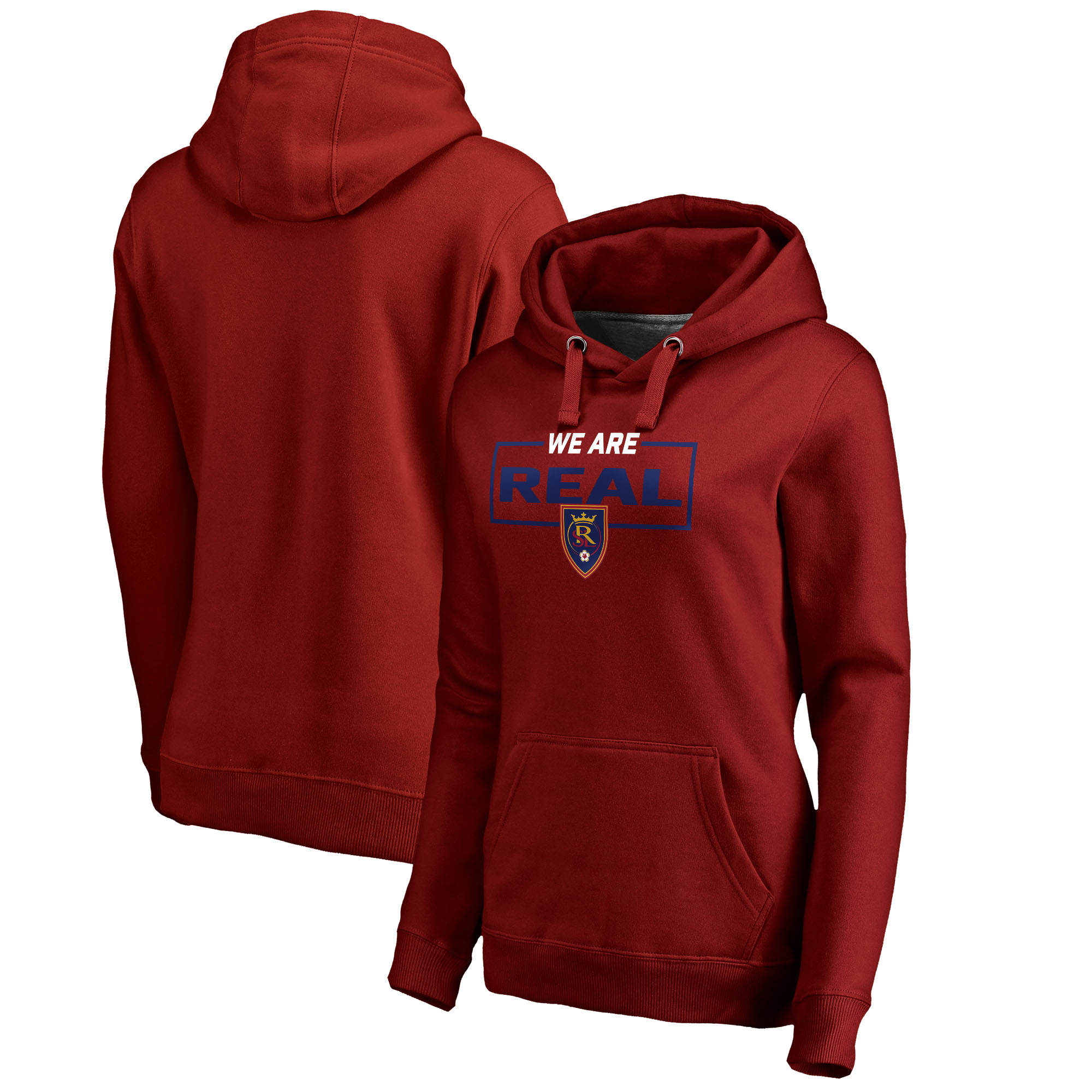Real Salt Lake Fanatics Branded Women's Plus Size We Are Pullover Hoodie - Red