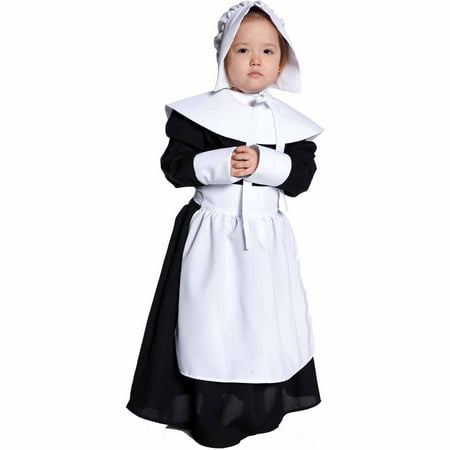 Pilgrim Girl Child Halloween Costume (Dog Pilgrim Costume)