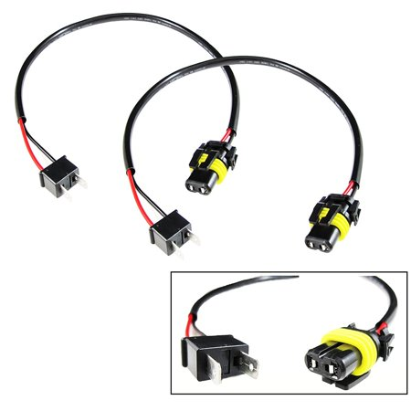 Xotic Tech 2x H7 Pigtail Wire Wiring Harness Cable Adapter for HID Ballast to Stock 9006 Socket (Wire Pigtail)