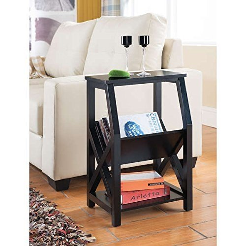 Magazine Rack   Side Table, Contemporary Magazine Rack MR1204 in Veneer Construction and... by K and B Furniture Co Inc