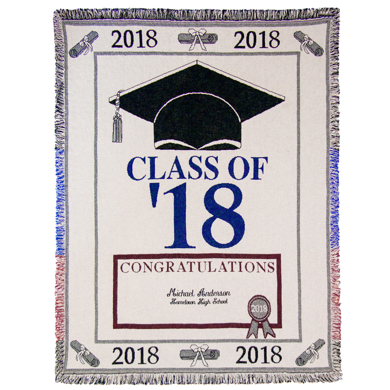 Personalized Graduation Throw - 2018