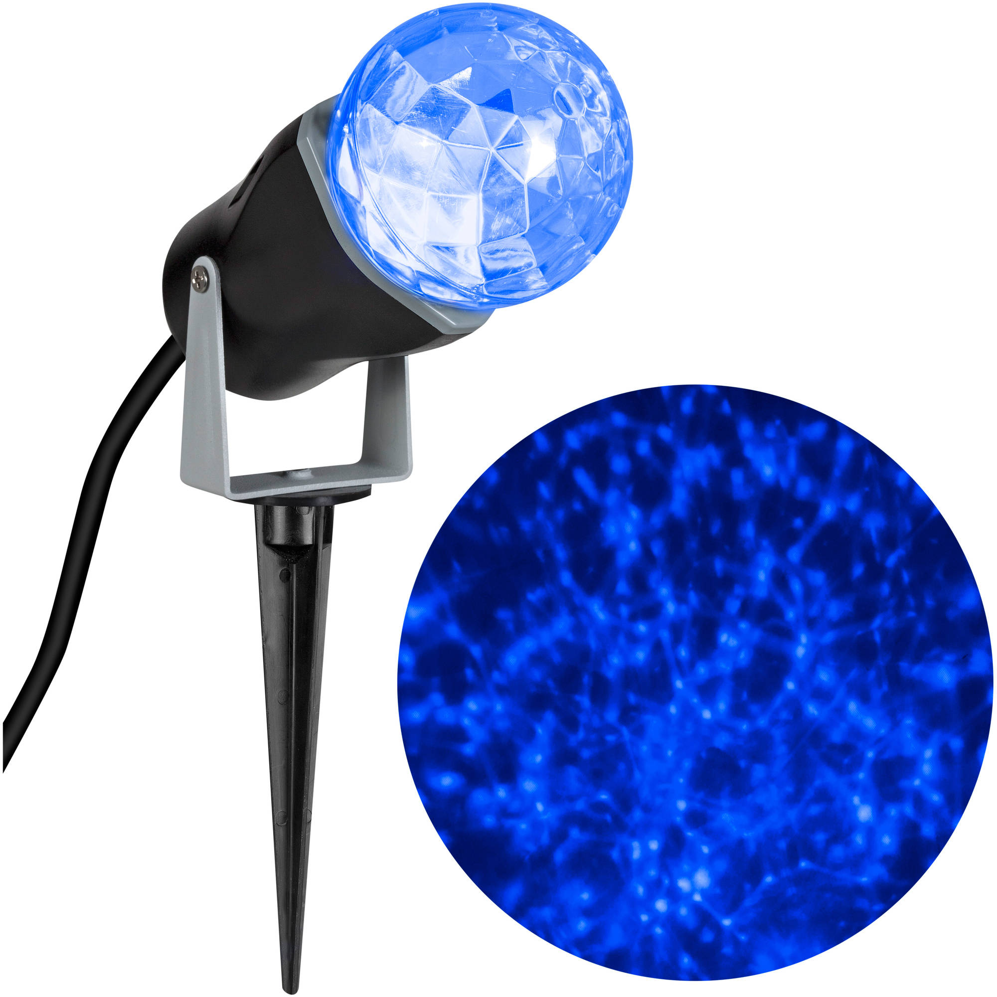 Gemmy Lightshow Christmas Lights LED Projection Kaleidoscope Lights, Icy Blue