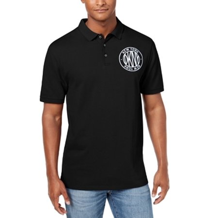 Mens Medium Embroidered Logo Polo Rugby Shirt M