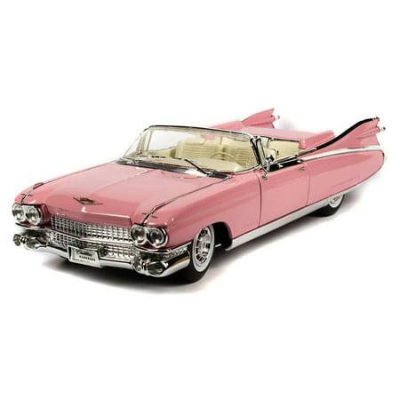 1959 Cadillac Eldorado Biarritz Convertible, Pink - Maisto Premiere 36813 - 1/18 Scale Diecast Model Toy Car Maisto Toy Cars