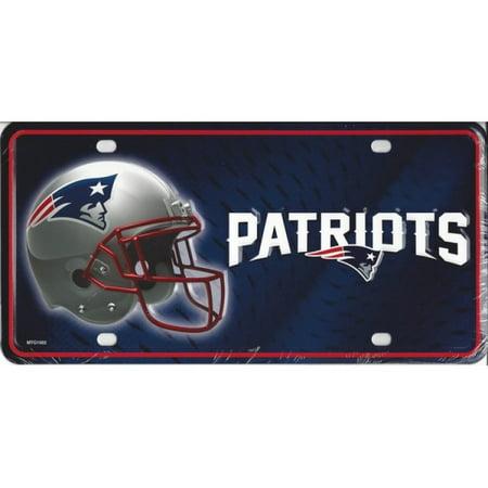 New England Patriots Metal License Plate - image 1 de 1