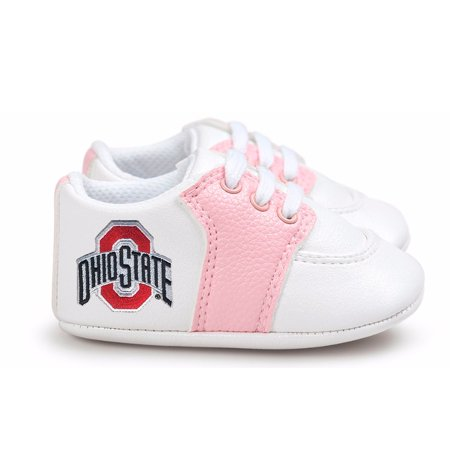 Ohio State Buckeyes Pre-Walker Baby Shoes - Pink - Pit Pre Shoes