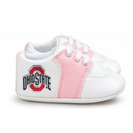 Ohio State Buckeyes Pre-Walker Baby Shoes - Pink Trim