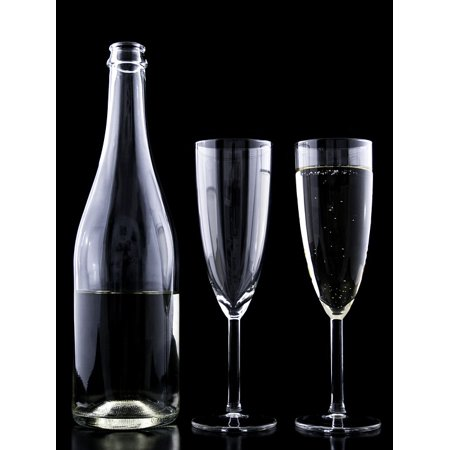 Canvas Print Eve New Year Toast Glass Crystal Festive Drink Stretched Canvas 10 x 14