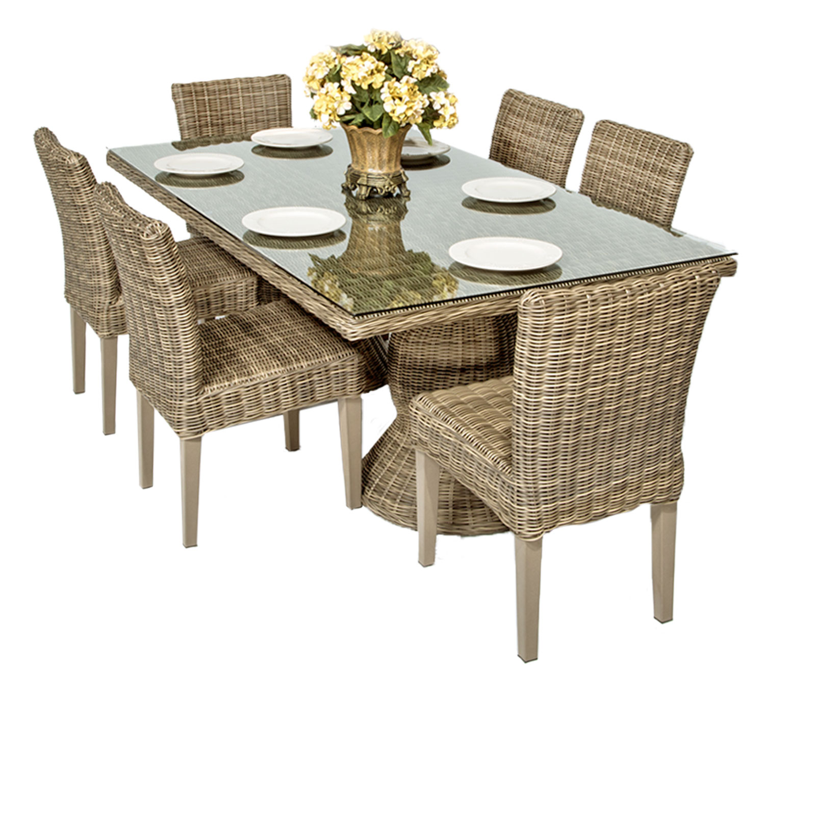Stone Table & Chairs Discount Outdoor Furniture Sets
