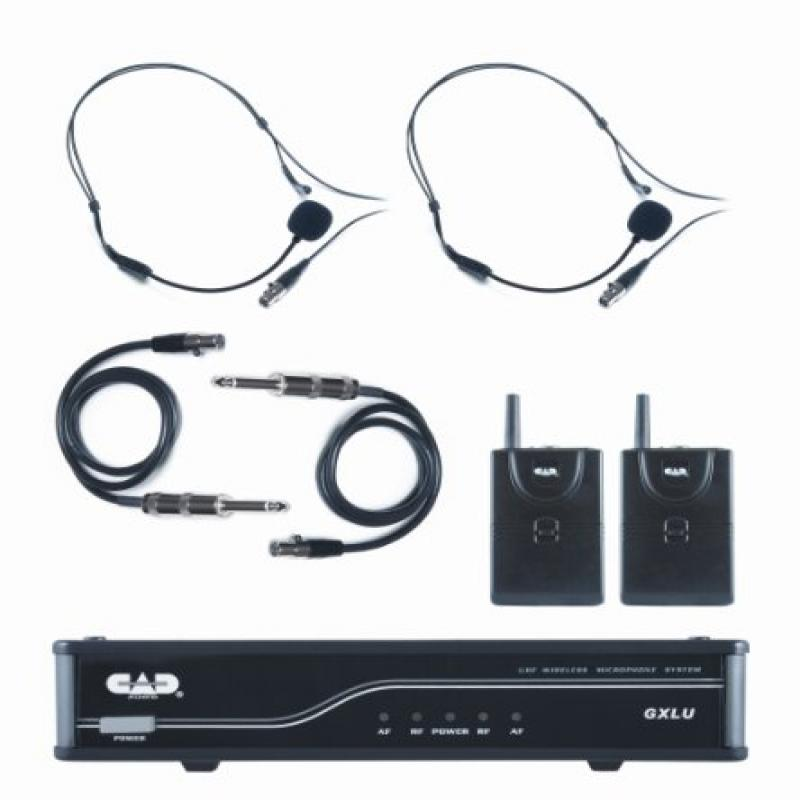 CAD Audio GXLUBB-K UHF Wireless Dual Bodypack Wireless Microphone System K Frequency Band by CAD