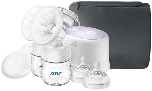 Philips Avent Double Electric Breast Pump + Bonus Power Cushion, SCF334 22 by Philips AVENT
