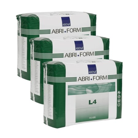 3 Large Packs (Abena Abri-Form Comfort Briefs, Large, L4, 36 Count (3 Packs of 12) )