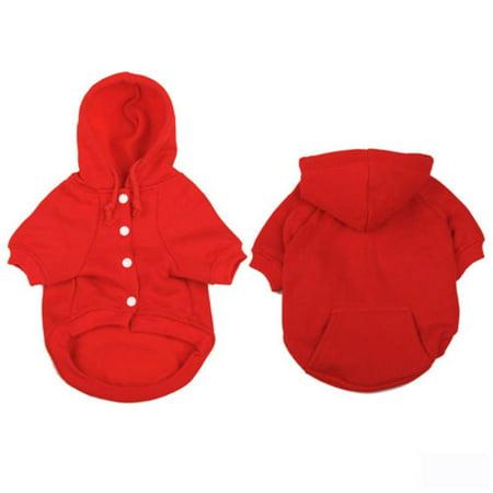 Pet Hoodie T-shirts - Pet Dogs Cat Puppy Hoodie Sweatshirt Jumper Dog Jacket Clothes Coat Apparel Vest