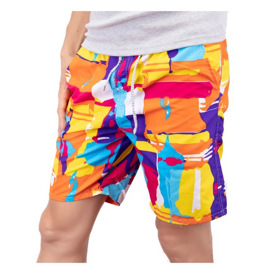 0c88acb759 SAYFUT - Mens Slim Fit Quick Dry Short Swim Trunks with Pockets ...