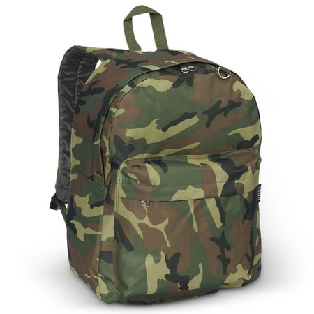 Everest Classic Woodland Camo Backpack, One Size - Walmart Camo Backpack