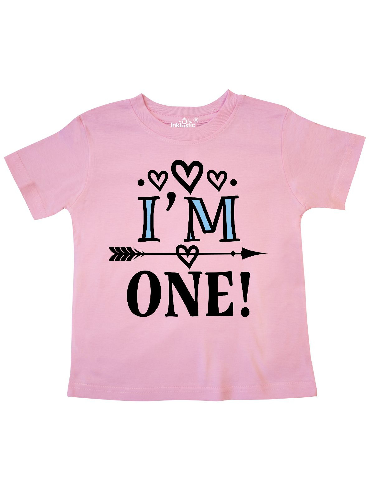 inktastic 1st Birthday 1 Year Old Heart for Girls Toddler T-Shirt