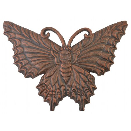 Decorative Butterfly Stepping Stone - Bronze Cast Iron - 17