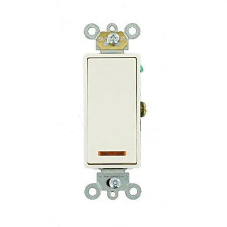 Leviton 56312A Light Switch, Decora Plus Illuminated Switch, Commercial Grade, 20A, SinglePole Almond Almond Decora Wall Plate
