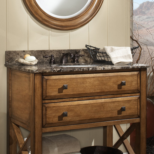 Sagehill Designs Granite 37'' Single Bathroom Vanity Top