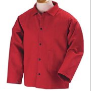 BLACK STALLION FR9-30C Flame-Resistant Jacket, Cotton, Red, 3XL