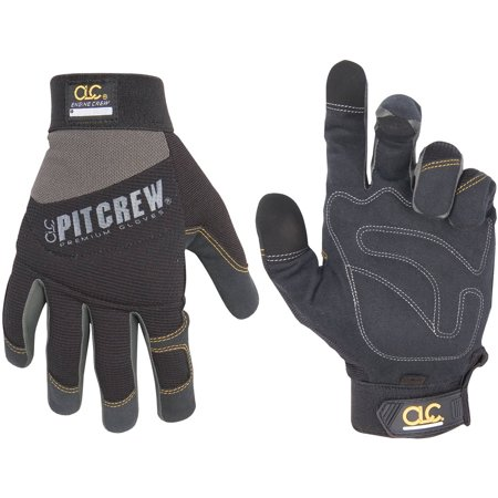 Ford Racing Mechanics Gloves - Work Gear 205BM Medium Black and Gray Engine Crew Mechanics Gloves