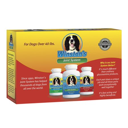 Winstons Joint System   For Medium Dogs From 35 99 Pounds   100  Natural Whole Food Supplement For Canine Arthritis  Hip Dysplasia And Joint   Pain Relief   One Month Supply