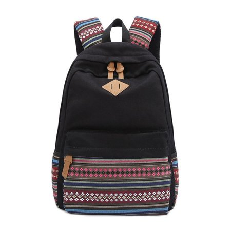 Fashion Lightweight Causal Canvas Travel Daypack Computer Bag School Book Bag Backpack for Girls