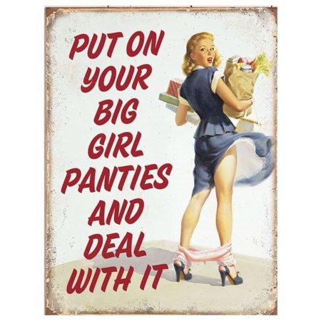 Vintage Big Girl Panties Metal Sign 9