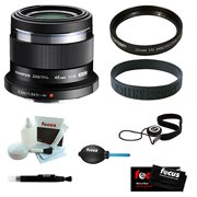 Olympus M. Zuiko Digital ED 45mm f1.8 (Black) Lens Bundle