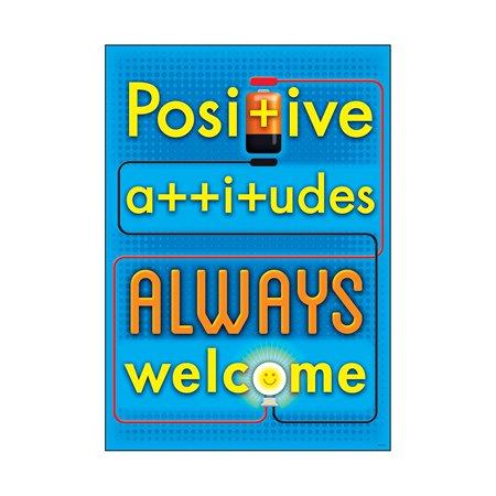 Positive Attitudes Always Poster (1 Piece), 13.38