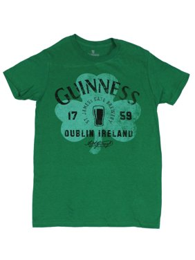 2c43995034f1 Product Image Guinness Beer Mens T-Shirt - Distressed 3 Leaf Clover St  James Gate Brewery