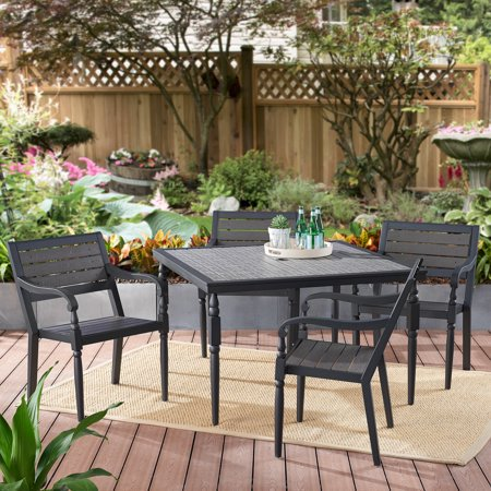 Better Homes & Gardens Hillsboro 5-Piece Outdoor Patio Dining Set ()